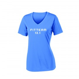 FITTEAM 1/2 MARATHON WOMEN'S DRI-FIT V-NECK. (LST353)