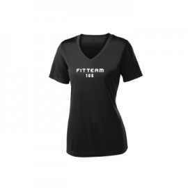 3342e80c FITTEAM 10K WOMEN'S V-NECK DRI-FIT T-SHIRT