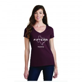 627c594c FITTEAM STATE SPECIFIC WOMEN'S V-NECK T-SHIRTS *Available in all 50 states