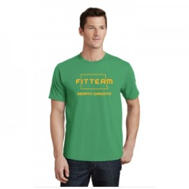 FITTEAM NORTH DAKOTA UNISEX T-SHIRT.   (PC450)