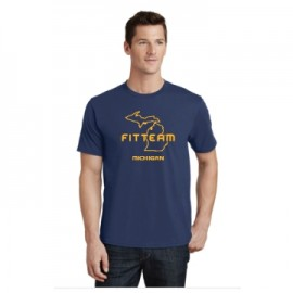 FITTEAM MICHIGAN UNISEX T-SHIRT.  (PC450)