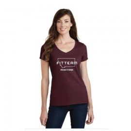 FITTEAM MONTANA WOMEN'S V-NECK T-SHIRT