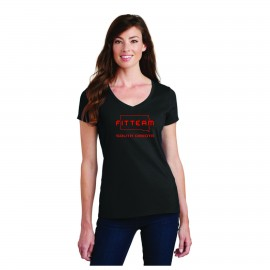 FITTEAM SOUTH DAKOTA WOMEN'S V-NECK T-SHIRT