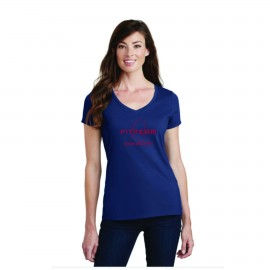 FITTEAM MISSISSIPPI WOMEN'S V-NECK T-SHIRT