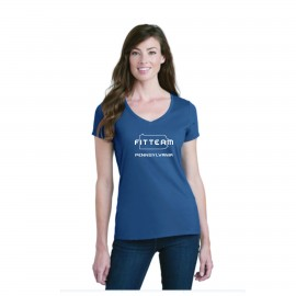 FITTEAM PENNSYLVANIA, WOMEN'S V-NECK T-SHIRT