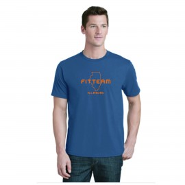 FITTEAM ILLINOIS, UNISEX T-SHIRT