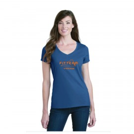 FITTEAM VIRGINIA, WOMEN'S V-NECK T-SHIRTS