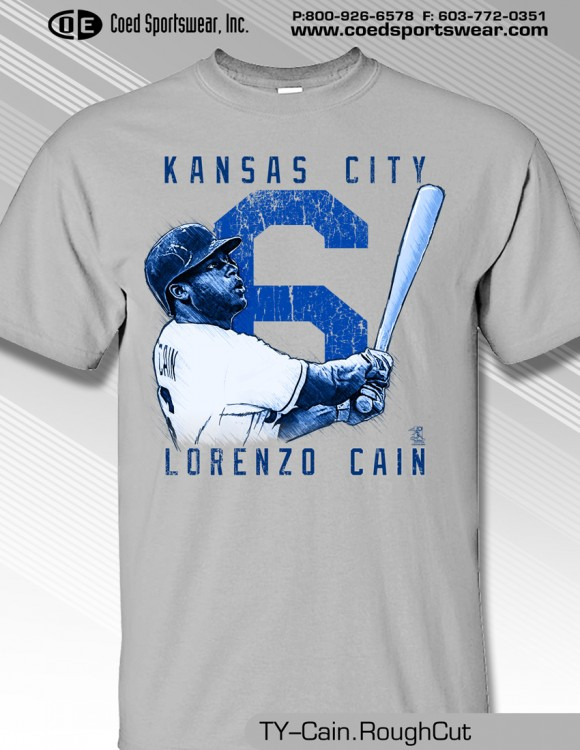 Kansas City, Lorenzo Cain Star Outfielder Shirt