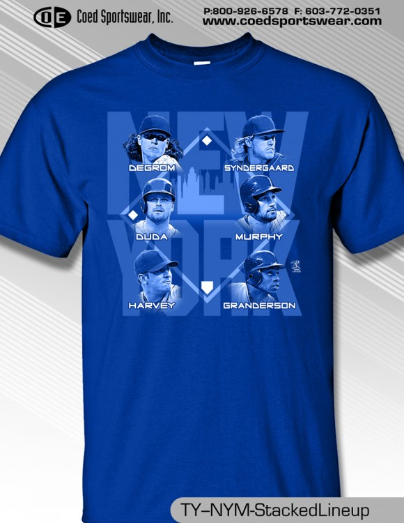New York Stacked Shirt includes DeGrom, Syndergaard, and Harvey