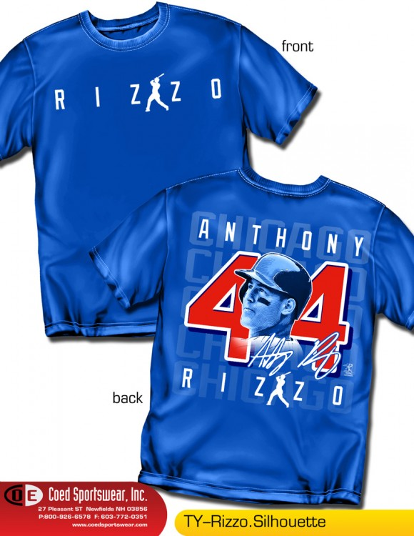 Chicago, Star 1st Baseman Anthony Rizzo Name Number Shirt