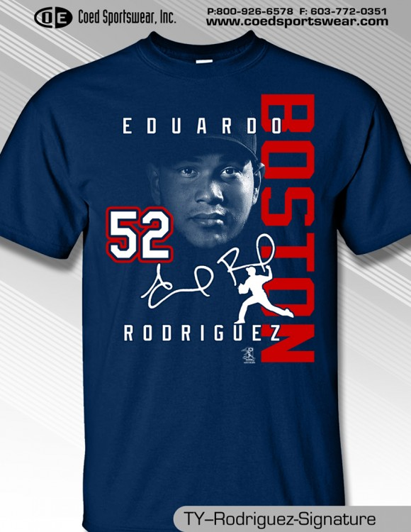 Boston, Young Ace Eduardo Rodriguez,  Signature Shirt