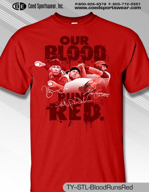 ST LOUIS BLOOD RUNS RED SHIRT