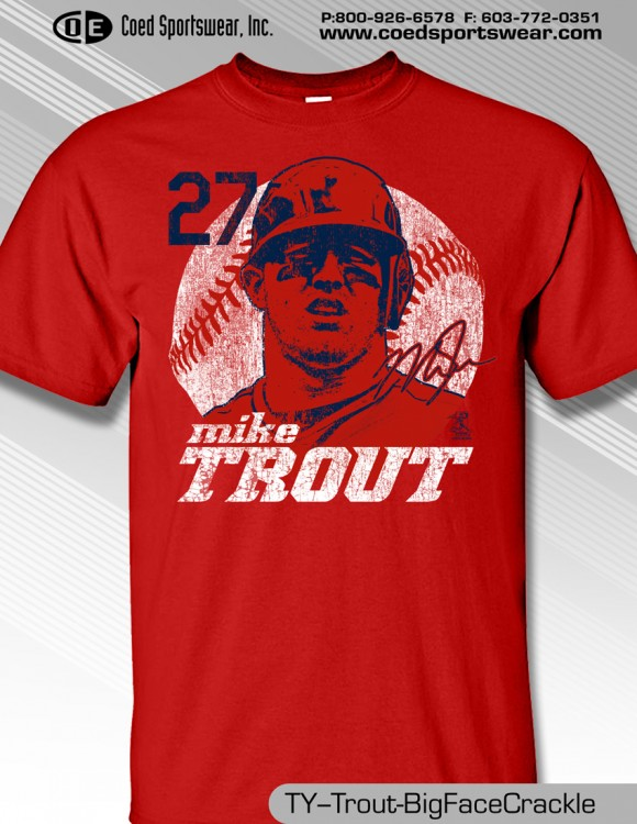 LA ANGELS STAR, MIKE TROUT