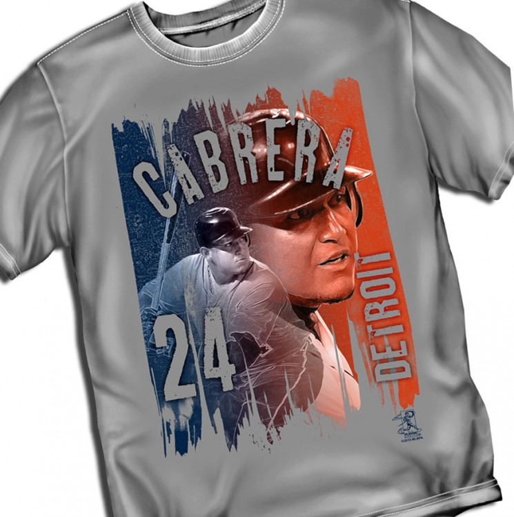 "Detroit Cabrera ""Paint Brush Graphic"" Tee"
