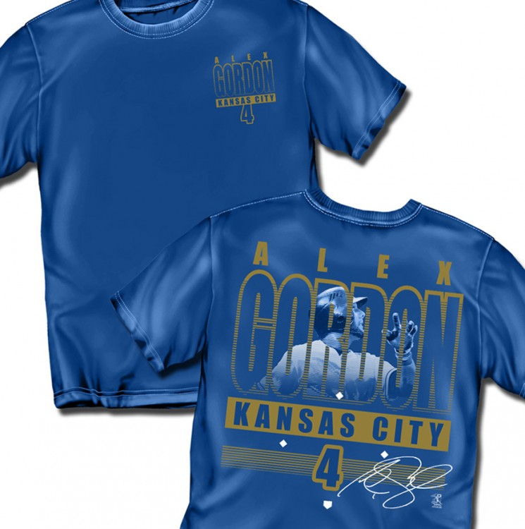 "Kansas City Alex Gordon ""Line Drive"" Adult Tee"