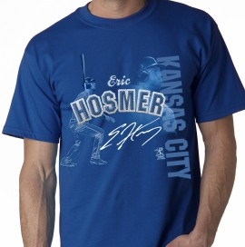 "Kansas City  Eric Hosmer ""Stitch Style"" Adult Tee"