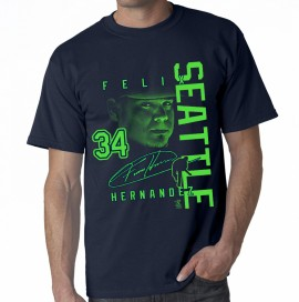 "Seattle Felix Hernandez ""Signature Neon"" T-Shirt"