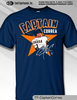 HOUSTON'S YOUNG STAR CARLOS CORREA CAPTAIN SHIRT