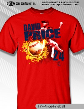Boston Ace, David Price Fireball Shirt