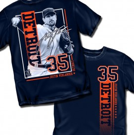 "Detroit Verlander ""Vertical Stripe Graphic"" Tee"